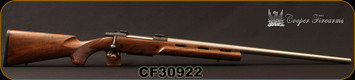 "Cooper - 6.5x284Norma - M52 Montana Varminter (MTV) - Bolt Action - AA+ Claro Walnut stock, vented forearm/Stainless, 26""Barrel"