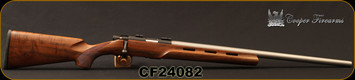 "Cooper - 22LR - M57 LVT -  Bolt Action Rilfe - AA Claro Walnut Vented stock w/hand checkered grip/Stainless, 24"" Heavy Barrel, Pachmayr recoil pad, Warne Bases, S/N CF24082"