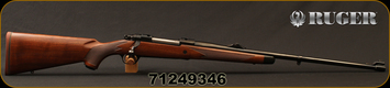 """Ruger - 9.3x62 - M77 Hawkeye African - Walnut w/ Ebony Forend Tip/Satin Blued, 24""""Barrel, 1:10""""Twist, Mfg# 47195, S/N 71249346"""