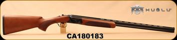 "Huglu - 410Ga/3""/28"" - 103D - Single Trigger O/U - Turkish Walnut/Case Hardened Receiver/Blued, SKU# 8681715390383, S/N CA180183"