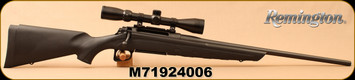 """Consign - Remington - 243Win - Model 770 - Bolt Action Rifle - Black Synthetic Stock/Blued Finish, 22""""Barrel, 4 Round Capacity, c/w 3-9x40 Scope, Duplex reticle, Mfg# 85630 - In original box - Only 10 rounds fired"""