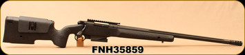 """Consign - FNH - 308Win - Special Police Rifle (SPR) A5M XP - Bolt Action Rifle - Black Fiberglass McMillan Stock/Blued, 24""""Fluted Barrel, Muzzle Brake & Trigger work done by Protech Gunsmith, 5 & 10 Rnd mags, Mfg# 75638 - In original box"""