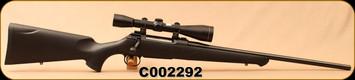 "Consign - Sauer - 6.5x55Swedish - Model 100 - Black Synthetic/Blued, 21""Barrel, c/w Leupold M8, Matte Black, 6x42mm, Duplex reticle"