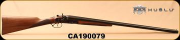 "Huglu - 12Ga/3""/30"" - 201HRZ - SxS - Turkish Walnut English Stock/Case Hardened/Blued Barrels, 5pc. Ventus Mobile Chokes, SKU# 8681744308939, S/N CA190079"