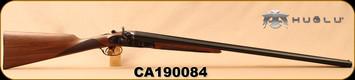 "Huglu - 12Ga/3""/30"" - 201HRZ - SxS - Turkish Walnut English Stock/Case Hardened/Blued Barrels, 5pc. Ventus Mobile Chokes, SKU# 8681744308939, S/N CA190084"