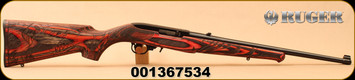 "Ruger - 22LR - 10/22 Wild Hog - Semi-Auto - Engraved Wild Hog stock - Red Laminate/Blued, 18.5""Barrel, Mfg# 31107, S/N 001367534"
