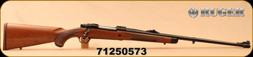 """Ruger - 6.5x55Swedish - M77 Hawkeye African - American Walnut with Ebony Forend Cap/Satin Blued, 24"""", Shallow """"express-style"""" windage-adjustable """"V"""" notch rear sight, large white bead front sight, Mfg#47186 - S/N 71250573"""