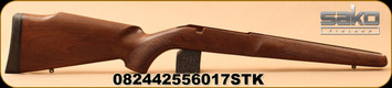 Sako - Quad Varmint - Stock Only - RH - Oil-Finished Walnut - flat-bottomed, extra wide forend