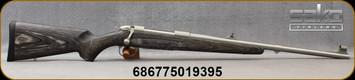 "Sako - 375H&H - 85 Kodiak - Bolt Action Rifle - Grey Laminate/Stainless, 21.3""Barrel, Single-Stage Adjustable Trigger, Integral Dovetail, Detachable Magazine. Mfg# JRS1W37"
