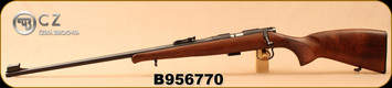 "CZ - 22LR - 452 Lux - LH - Bolt Action Rifle - Turkish Walnut/Blued, 24.8""Barrel, Hooded Front Sight, S/N B956770"