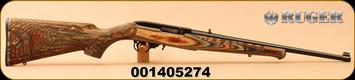 "Ruger - 22LR - 10/22 Gator - Semi-Auto - Engraved Green Mountain Gator Stock/Satin Black, 18.5""Barrel, MFG# 21179, S/N 001405274"