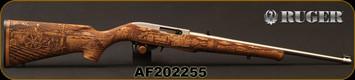 "Ruger - 22LR - 10/22 - American Farmer II - Limited Edition, 1 of 3300 - Semi-Auto Rifle - American Farm Engraved French Walnut Stock/Satin Stainless, 18.5""Barrel, Mfg# 31133, S/N AF202255"