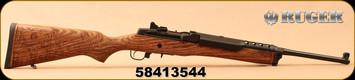 "Ruger - 5.56NATO - Mini-14 Ranch - Semi-Auto - Engraved Ranch Hardwood Stock/Blued, 18.5""Barrel, 1:9""Twist, c/w (2)5rd magazines, Picatinny Rail, 1"" scope rings, Mfg# 05881"