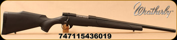 "Weatherby - 223Rem - Vanguard Heavy Barrel - Black Synthetic/Matte Blued, 20""Threaded(1/2x28) Barrel, 1:9""Twist, 5rd Hinged Floorplate, Mfg# VTU223RR0T"