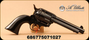 "Uberti - 45LC - Model 1873 'Jesse' New Model Cattleman - Single Action Revolver - Bison-horn grip/Fully Blued Steel Frame, Back Strap and Trigger Guard, 5.5""Barrel, 6-shot fluted cylinder, Mfg# 356715"