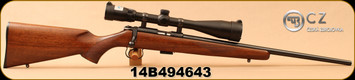 "Consign - CZ - 22LR - Model 455 - Bolt Action - Walnut Stock/Blued, 20.5""Barrel, c/w Bushnell Legend Ultra HD 4.5-14x44 Side Focus Parallax Scope, Rainguard HD Coating, MilDot Reticle - Only 20 rounds fired"