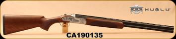 """Huglu - 20Ga/3""""/26"""" - 103FE - O/U - Ejectors - Turkish Walnut/Silver Receiver w/ Gr5 Hand engraving/Blued, SKU# 8682109400145, S/N CA190135"""