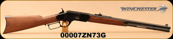 """Winchester - 44-40Win - Model 1873 Short Rifle - Lever Action - Black Walnut Straight-Grip Stock/Blued, 20""""Round Barrel, Mfg# 534200140, S/N 00007ZN73G - Serial Number 7"""