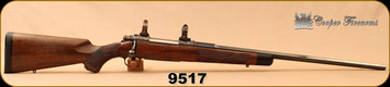 """Consign - Cooper - 280Rem - Model 52 Western Classic - AAA+ Claro Walnut stock/Color case hardened Receiver, 1"""" Talley Rings & Detachable 3rd Magazine, Polished Blued, 24""""octagonal barrel - Less than 30 rounds fired - In original box"""