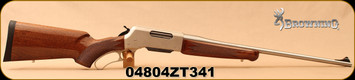 """Consign - Browning - 300WSM - BLR Lightweight Stainless - Lever Action - Gloss Black Walnut/Stainless, 22""""Barrel, c/w scope mounts - Only 15 rounds fired"""