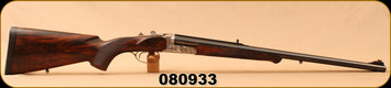 "Consign - Kreighoff - 470NE - Big Five Double Rifle - High Grade Walnut/Arabesques engraved, nickle-plated receiver/Blued, 24""Barrels, c/w Dies, 47pc Brass, Approx. 100 Load Rounds, SAA Approved Ammo Case - In a Green/Brown Krieghoff soft case"