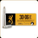 Browning - 30-06 Sprg - 155 Gr - BXR Rapid Expansion Matrix Tip - 20ct