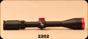 "Consign - Scorpion Red Hot Varminter - 4-16x44mm - 1""Tuve Diameter, Black w/ red 223 Ballistic Turret Cap - New in Box"