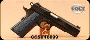"""Used - Colt - 45ACP - 1911 Competition 70 Series - Semi-Auto - Blue Finish/Blued Carbon Steel, 5""""Barrel, Mfg# O1970CCS - In original case"""