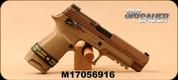 "Used - SIG Sauer - 9mm - P320-M17 Full Size - Semi Auto Pistol - Modular Stainless Steel/Polymer Grip/Flat Dark Earth Finish, 4.7"" Barrel, M1913 Rail - In original case"