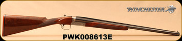 "Used - Winchester - 12Ga/3""/26"" - M23 Pigeon Grade XTR Lightweight - SxS - Walnut straight-grip stock/Blued, c/w Custom-Fit Briley Inserts - 20Gauge (custom-fit for this firearm)IM,IC"