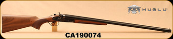 "Huglu - 12Ga/3""/30"" - 201HRZ - SxS - Turkish Walnut Standard Grip/Case Hardened/Blued, Double Trigger, 5pc. Ventus Mobile Choke, SKU# 8681715392240, S/N CA190074"