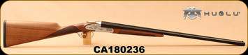 "Huglu - 28Ga/2.75""/26"" - 201A - SxS Double Trigger - Turkish Walnut English Straight Stock/Silver Receiver w/Gold inlay birds/Blued barrels, 5pc. Mobile Choke System, SKU# 8681744307383, S/N CA180236"