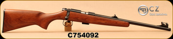 """CZ - 22LR - 455 Scout - American-Style Beechwood Stock/Blued, 16.5""""Threaded(1/2x28)Barrel, Hooded Front Sight, Integrated 11mm Dovetail, Mfg# 02135, S/N C754092"""