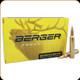Berger - 300 Winchester Magnum - 185 Gr - Match Grade Juggernaut OTM Tactical - Jacketed Hollow Point - 20ct - 70030