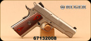 "Consign - Ruger - 45ACP - SR1911 - Hardwood Grips/Stainless, 4.25""Barrel, Fixed Novak 3-Dot sights, Skeletonized Trigger - In non-original case & box"