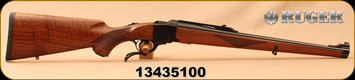 """Consign - Ruger - 7x57 - No.1 RSI - Single Shot Rifle - Walnut Full stock/Blued, 20""""Barrel, c/w 1""""rings & sling swivels - New w/o box - In camo soft case"""