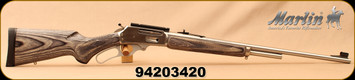 "Consign - Marlin - 30-30Win - 336XLR - Lever action - Grey Laminate Stock/Stainless, 24""Barrel, scope base, "" JM "" stamped, camo synthetic sling - New, Unfired - c/w camo soft case"