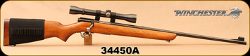"Consign - Winchester - 22Hornet - Model 43 - Walnut/Blued, 24""Barrel, c/w Weaver K4-60C 4x scope, Crosshairs reticle, leather sling, Stock Bandolier"