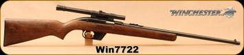 "Consign - Winchester - 22LR - Model 77 - Walnut/Blued, 22""Barrel, c/w Weaver B4 Scope, Crosshairs reticle"