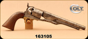 "Consign - Colt - 44Cal - 1860 Army - Percussion Revolver - Walnut Grips/Steel, 8""Barrel, Manufactured in 1867 - ANTIQUE"