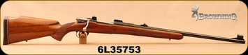 "Consign - Browning - 308NormaMag - Safari - Gloss Walnut/Blued, 24""Barrel, Belgium-Made, Hooded ramped beaded front sight, adjustable folding notch rear sight"
