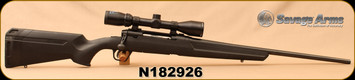 "Used - Savage - 6.5Creedmoor - Axis II - Black Synthetic/Matte Black, 22""Barrel, c/w Bushnell Banner 3-9x40, MZ 200 Reticle"