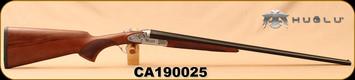 "Huglu - 410Ga/3""/26"" - Model 200AC - SxS - Turkish Walnut/ Hand Engraved Silver Receiver/Blued Barrels, SKU# 8682109400190, S/N CA190025"