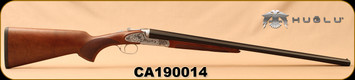 "Huglu - 20Ga/3""/26"" - 200AC - SxS Single Trigger - Select Turkish Walnut/Silver Receiver w/Gr5 Hand Engraving/Blued Barrels, 5pc. Mobile Choke, SKU# 8682109400176, S/N CA190014"