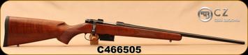 "CZ - 223Rem - 527 American - Turkish Walnut-American Style/Blued, 21.9""Barrel, Single set trigger, 1:9""Twist, S/N C466505"