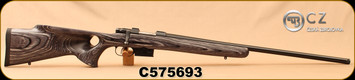 "CZ - 223Rem - Model 527 Varmint Thumbhole - Bolt Action Rifle - Grey Laminate Thumbhole Stock/Blued, 25.6""Threaded Barrel, Single set trigger, S/N C575693"