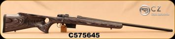 """CZ - 223Rem - Model 527 Varmint Thumbhole - Bolt Action Rifle - Grey Laminate Thumbhole Stock/Blued, 25.6""""Threaded Barrel, Single set trigger, S/N C575645"""