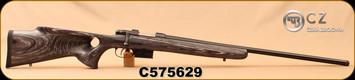 """CZ - 223Rem - Model 527 Varmint Thumbhole - Bolt Action Rifle - Grey Laminate Thumbhole Stock/Blued, 25.6""""Threaded Barrel, Single set trigger, S/N C575629"""