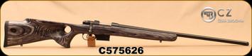 """CZ - 223Rem - Model 527 Varmint Thumbhole - Bolt Action Rifle - Grey Laminate Thumbhole Stock/Blued, 25.6""""Threaded Barrel, Single set trigger, S/N C575626"""