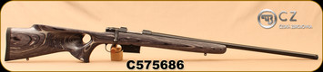 "CZ - 223Rem - Model 527 Varmint Thumbhole - Bolt Action Rifle - Grey Laminate Thumbhole Stock/Blued, 25.6""Threaded Barrel, Single set trigger, S/N C575686"